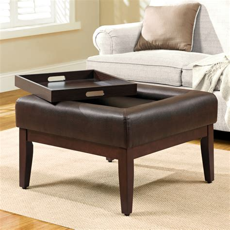 ottoman with tray table coffee table tiny square ottoman coffee table large