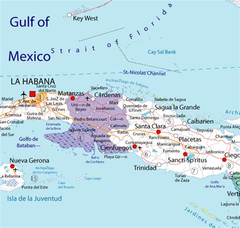 map of cuba cities cuba cities and towns pictures to pin on pinsdaddy