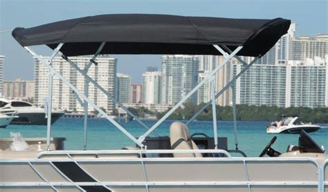 how to install bimini top on pontoon boat tops and covers convertex