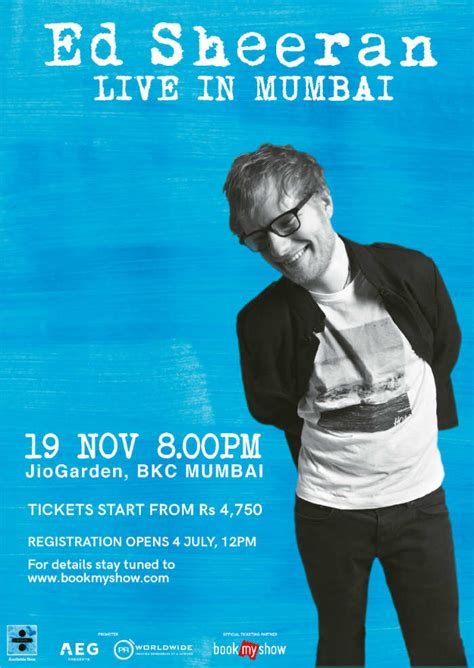 ed sheeran live in singapore 2017 yes your favourite ed sheeran mumbai concert 2017 date venue ticket price