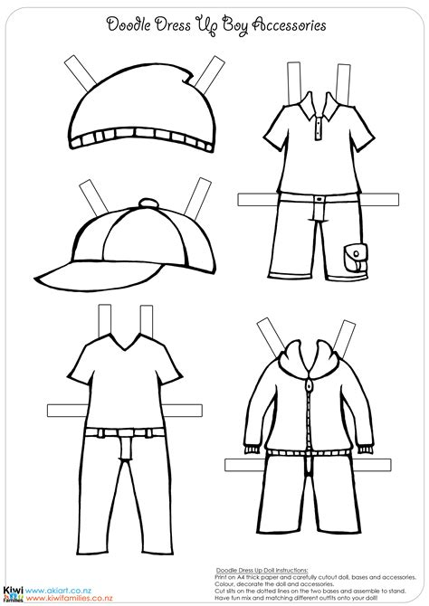 paper doll clothes template make your own paper dolls kiwi families