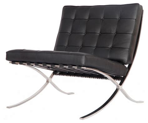 modern black accent chair modern pavilion barcelona chair aniline leather