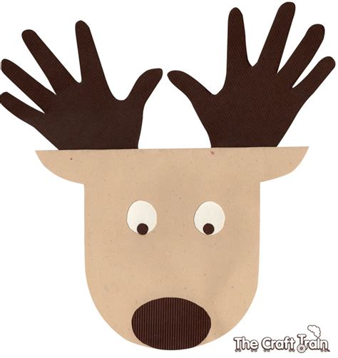 reindeer card template reindeer handprint card