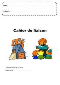 cahier de liaison page de garde maternelle
