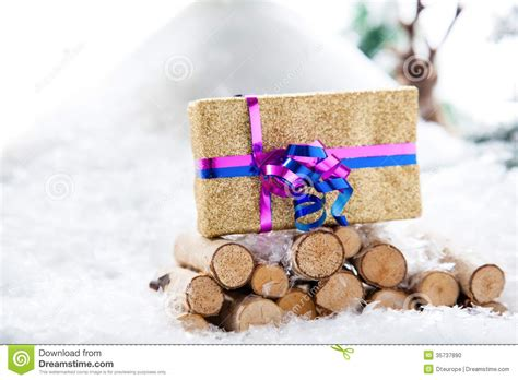 nature xmas gift stand stock photo image 35737890