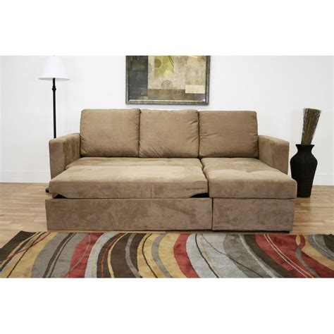Wholesale Interiors Baxton Microfiber Convertible Sofa Bed Convertible Sectional Sofa