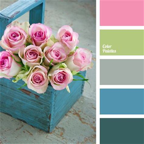 what color matches with pink and blue color palette 35 tea rose pink lime green grey