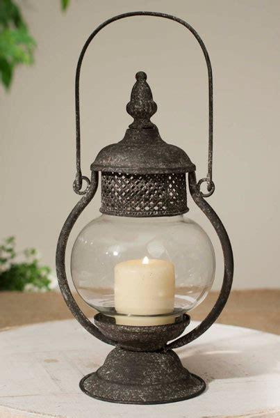 Pillar Candle Lantern Sepia Metal Pillar Candle Lantern With Chimney Candle