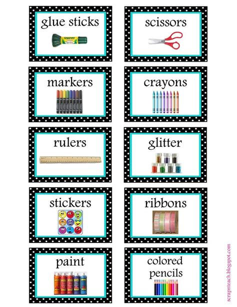 printable art tags free printable art supply labels free printable and