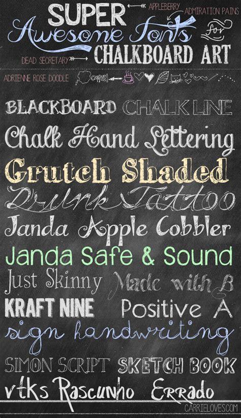 chalkboard diy fonts chalkboard fonts on