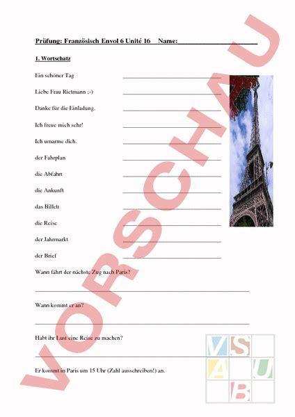 Musterbrief Angebot Französisch Www Unterrichtsmaterial Ch Franz 195 182 Sisch Anderes Thema Unit 195 169 16 Pr 195 188 Fung Arbeitsbl 195