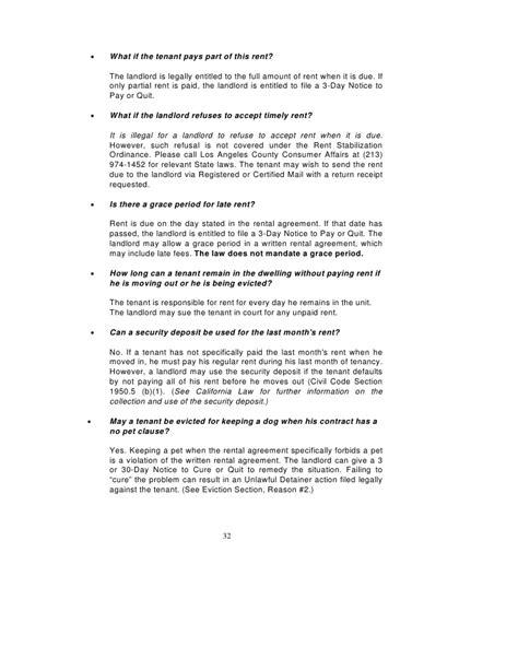 section 213 notice los angeles rent stabilization handbook rent control