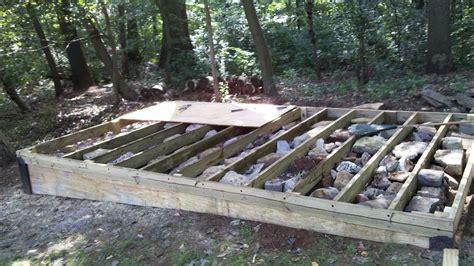 build  level shed tiny houses barn foundation