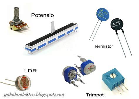 resistor tetap gokako elektro resistor tidak tetap variable resistor