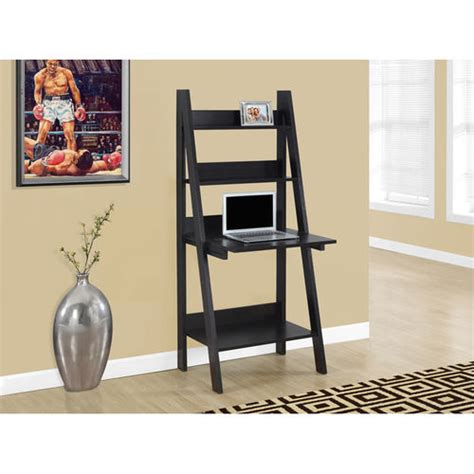 Ladder Bookcase With Drop Down Desk At Brookstone Buy Now Ladder Bookcase Desk