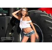 Hot Brunette Country Girls With Tractors  Gears And