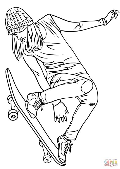 Skateboarding Coloring Pages Coloring Home Easy Coloring Pages For Girls L