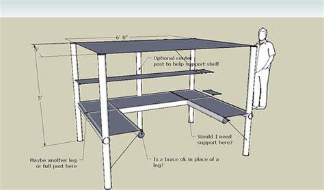 U Shaped Desk Plans U Shaped Desk W Loft Design Simplified Building