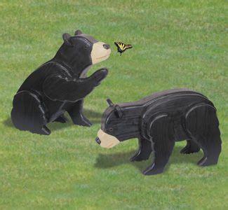 life size bear cubs woodcraft pattern wood craft