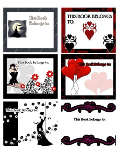printable gothic bookmarks horror gothic and fantasy bookplates assorted