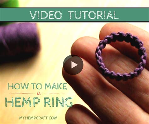 Macrame Ring Tutorial - how to make a macrame hemp ring