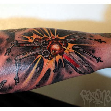 x wing tattoo 10 awesome x wing fighter tattoos tattoodo