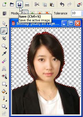 cara mudah mengganti background pas foto belajar photo cara mengganti background pas foto dengan coreldraw