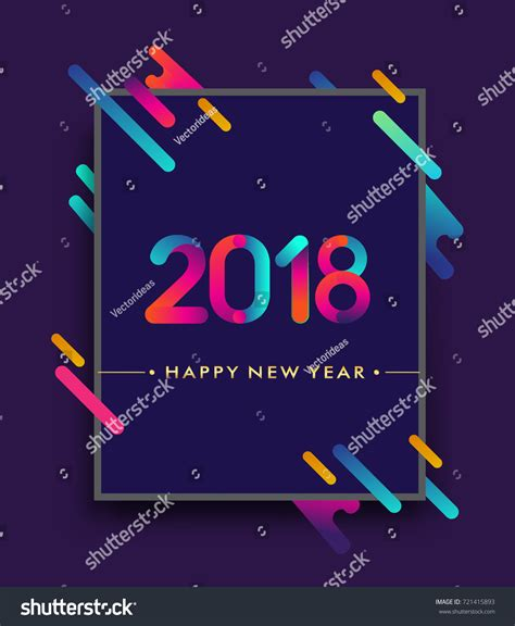 colorful happy new year 2018 happy new year 2018 colorful abstract stock vector