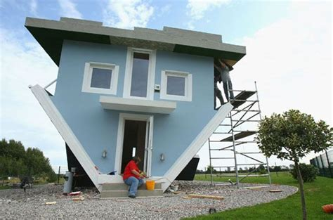 upside down house designs crazy upside down house in germany freshome com