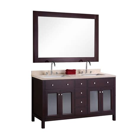 home depot design element vanity design element venetian 60 in w x 22 in d vanity in