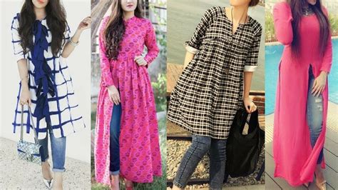 design styles design style daily daily wear college kurti with jeans designs long trendy