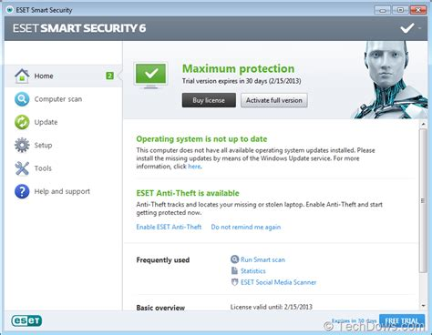 eset nod32 antivirus smart security 32 64 bit free eset smart security 6 and nod32 antivirus 6 released