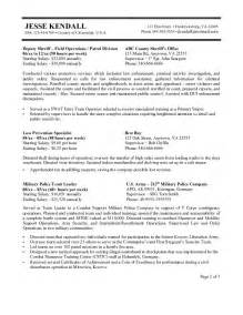 Federal Resume Templates by Federal Resume Exle 2016 2017 Resume 2016