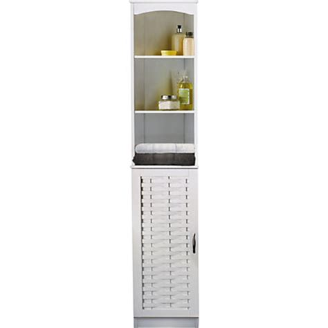 Skydale Tall Boy Bathroom Cabinet Slatted Wood Grain At Homebase Bathroom Furniture