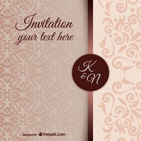 Free Patterns For Wedding Invitations