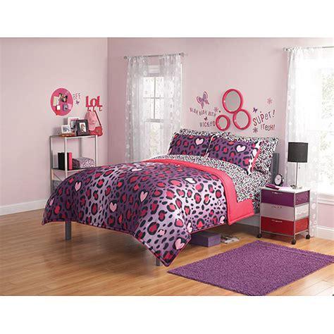 walmart girls comforters your zone comforter and sham set walmart com
