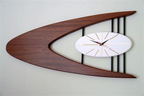 mid century wall l mid century modern boomerang sculptural wall clock