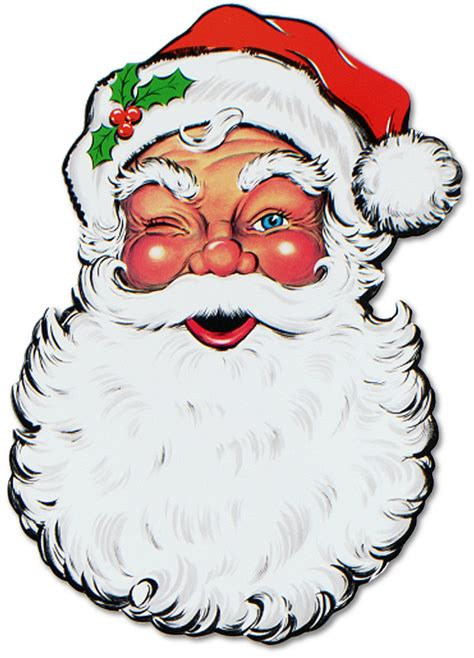 printable santa face santa face cutout 26 quot party packs