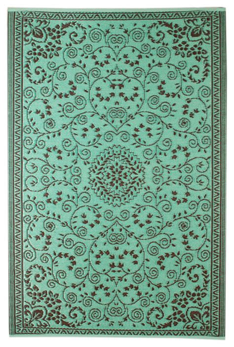 Recycled Plastic Outdoor Rug Floral Indoor Outdoor Rug Recycled Plastic Turquoise Outdoor Rugs By Maharani Imports