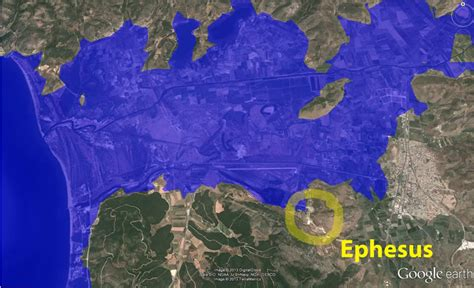 ephesus map where is ephesus location of ephesus in turkey