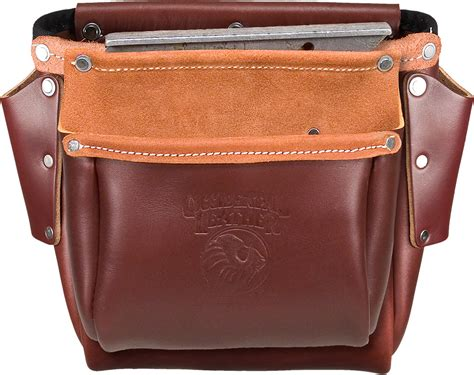 pro leather construction bolt bag with bull pin loop on