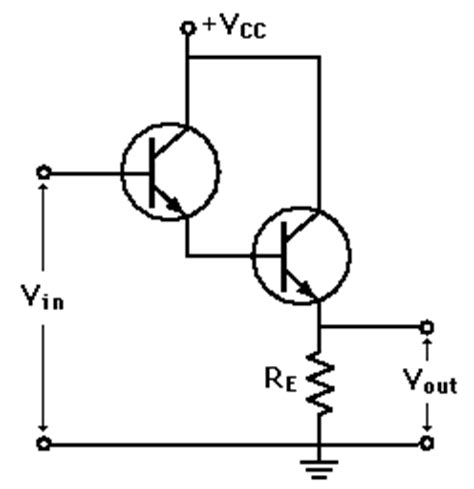 darlington transistor buffer emitter follower applications