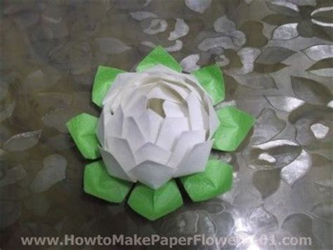 How To Make A Paper Lotus Step By Step - 1000 ideas about paper lotus on paper flowers