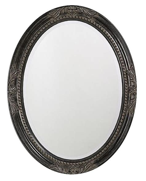 black oval bathroom mirror queen ann antique black finish 33 quot high oval wall mirror