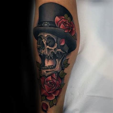 top hat tattoo 30 skull with top hat designs for manly ink ideas