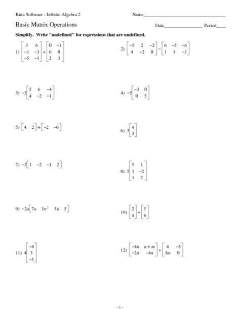 matrices practice worksheet matrix worksheets lesupercoin printables worksheets