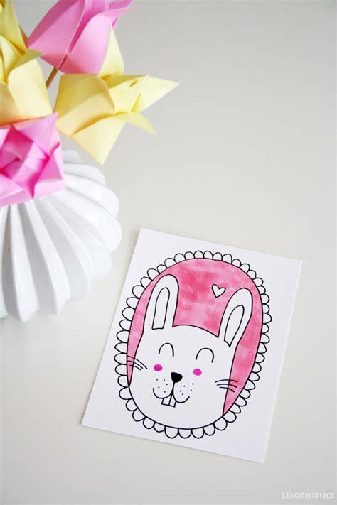 happy easter handmade origami paper tulips bunny