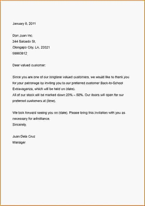 Business Letter Template Regarding 5 Exle Of Business Letter The Best Letter Sle