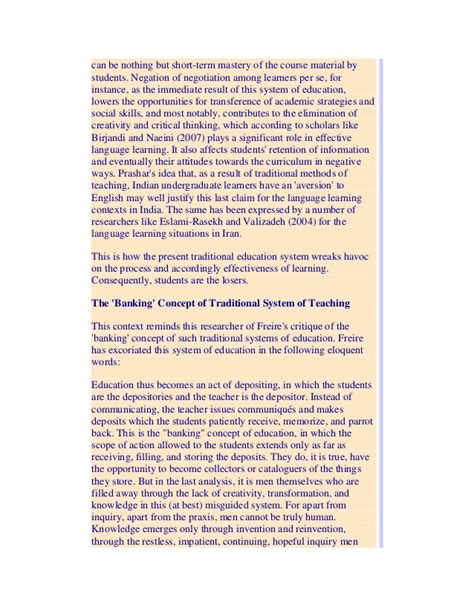 Freire Banking Concept Essay by Freire The Banking Concept Of Education Essay Custom Paper Writing Service