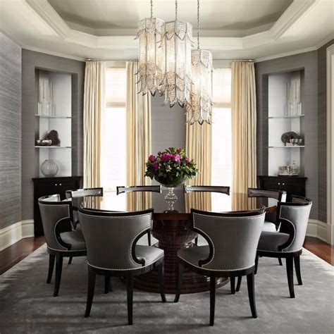 graceful gray dining room ideas modern dining tables